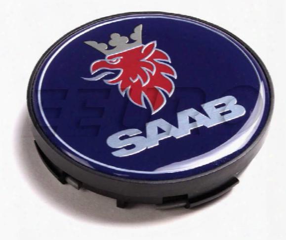 Wheel Center Cap (black Edge) - Genuine Saab 12802437