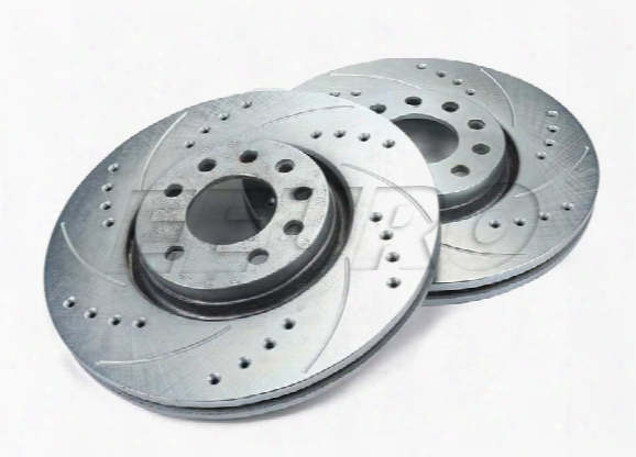 Disc Brake Rotor Set - Front (308mm) (zinc Plated) (cross-drilled And Slotted) Saab 9184405