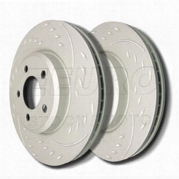 Disc Brake Rotor Set - Rear (255mm) (zrc Coated) (diamond Slot) Vw 4b0615601a