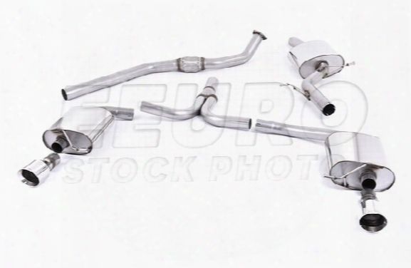 Vw Exhaust System Kit (cat-back) (performance) (resonated) (auto Trans) (dual Outlet Tips)