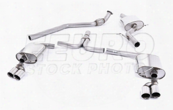 Vw Exhaust System Kit (cat-back) (performance) (resonated) (auto Trans) (quad Outlet Tips)