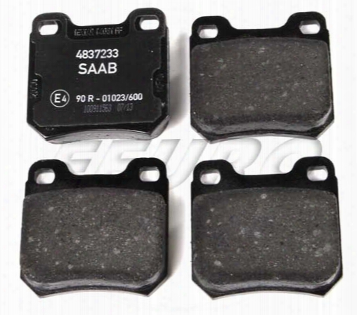 Disc Brake Pad Set - Rear - Genuine Saab 4837241