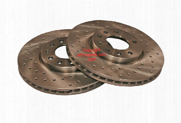 Disc Brake Rotor - Front (cross-drilled Pair) - Zimmermann Saab 32025723