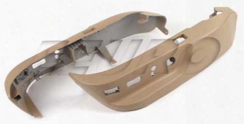 Seat Lower Switch Cover Set (beige) - Genuine Bmw 52107058011