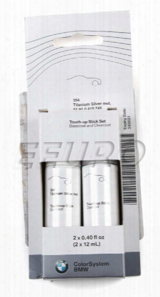Touch-up Paint (code 354) (titanium Silver) - Genuine Bmw 51910419745