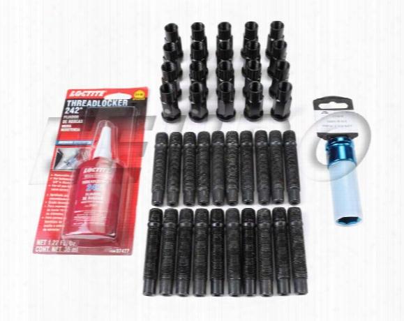Eeuroparts.com Kit Wheel Stud Kit (m14x1.5) (titan) (black) (conical) -