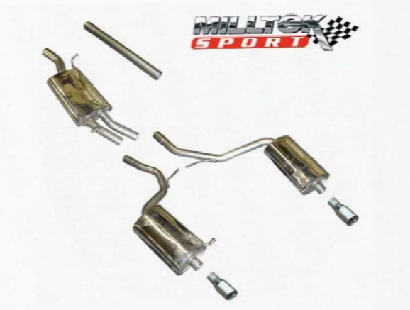 Exhaust System Kit (cat-back) (performance) (dual) - Milltek Sport Ssxau088 Audi