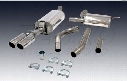 Exhaust System Kit (Cat-Back) (Touring) - Mototec MTEAU401 Audi