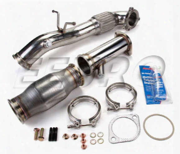 Volvo Exhaust Downpipe (w/ Standard 200 Cell Metallic Catalytic Converter)