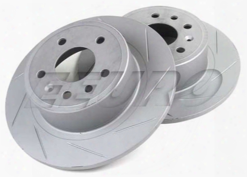 Disc Brake Rotor Set - Rear (286mm) (slotted) (viggeen) - Genuine Saab 5084751