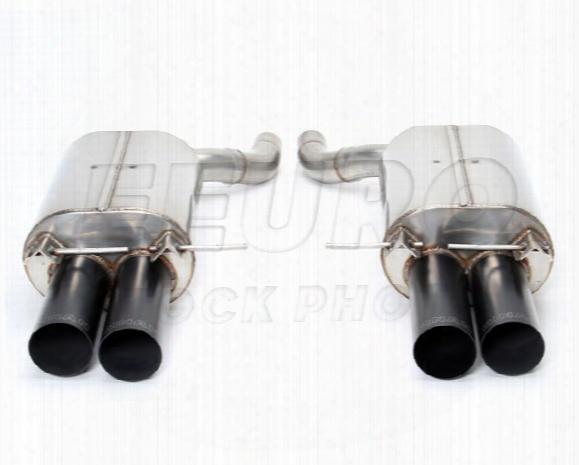 Free Flow Exhaust Muffler Set (w/ Black Tips) - Dinan D6600010blk Bmw