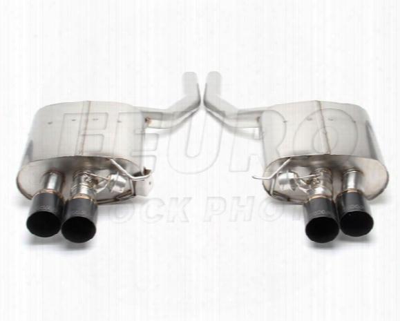 Free Flow Exhaust Muffler Set (w/ Black Tips) - Dinan D6600036blk Bmw