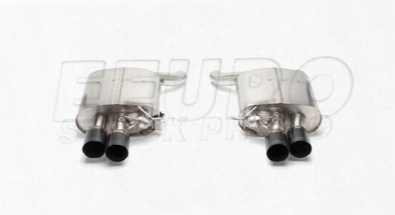 Free Flow Exhaust Muffler Set (w/ Black Tips) - Dinan D6600040blk Bmw