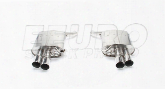 Free Flow Exhaust Muffler Set (w/ Polished Tips) - Dinan D6600040 Bmw