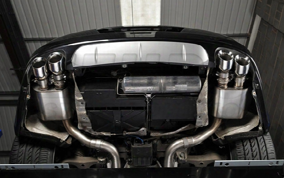Porsche Exhaust System Kit (cat-back) (performance) (non-resonated) (cerakote Black Tips)