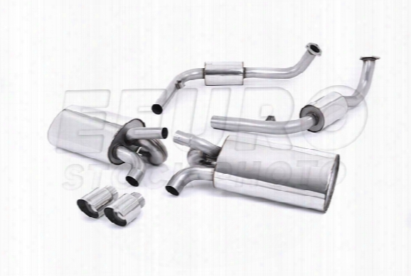 Porsche Exhaust System Kit (cat-back) (performance) (w/o Rear Catalytic Converter) (polished Tips)