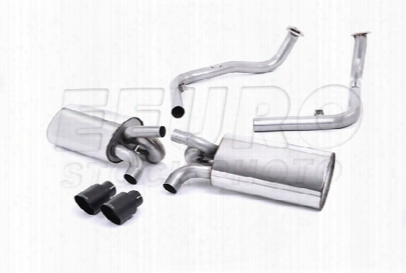 Porsche Exhaust System Kit (cat-back) (performance) (w/o Rear Catalytic Converter) (cerakote Black Tips)