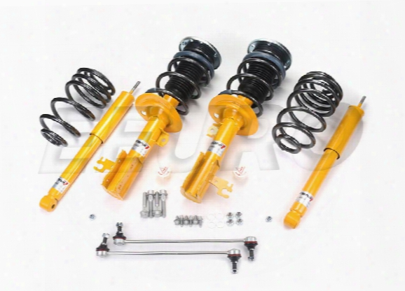 Saab Coil Spring Strut Assembly Kit - Front And Rear (sport) (performance) (lowering) 101k10334