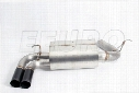 Free Flow Exhaust Muffler (w/ Black Tips) - DINAN D6600046BLK BMW