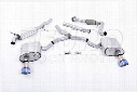 VW Exhaust System Kit (Cat-Back) (Performance) (Road Partial Resonated) (Burnt Titanium 100mm Tips)