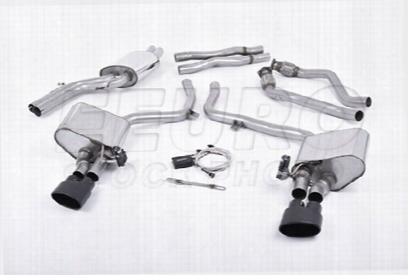 Vw Exhaust System Kit (cat-back) (performance) (non-resonated W/ X-pipe) (valvesonic) (cerakote Black Tips)