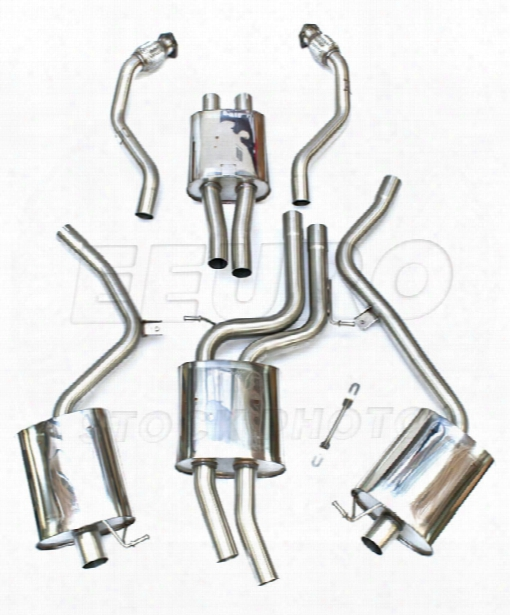 Vw Exhaust System Kit (cat-back) (performance) (resonated) (polished 95mm Tips)