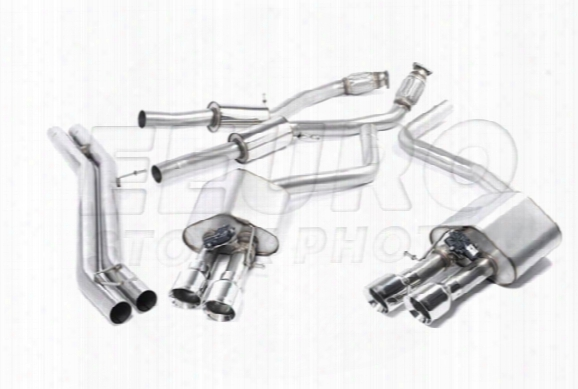 Vw Exhaust System Kit (cat-b Ack) (performance) (resonated) (valved) (polished Gt Tips)