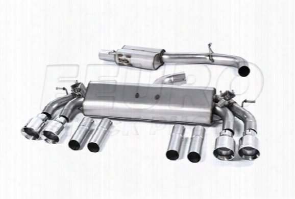 Vw Exhaust System Kit (cat-back) (performance) (resonated) (valved) (polished Round Tips)