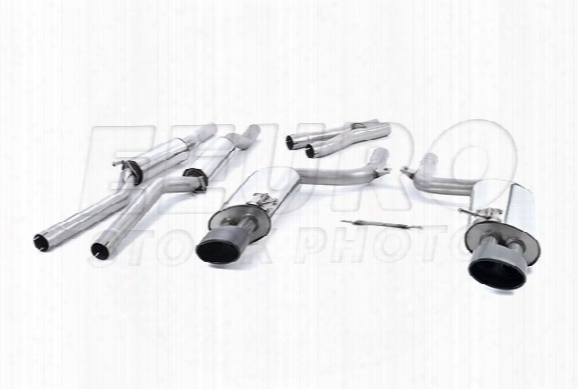 Vw Exhaust System Kit (cat-back) (performance) (resonated) (w/o Valving) (black Tips)