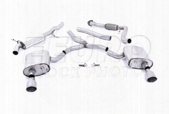 Vw Exhaust System Kit (cat-back) (performance) (road Partial Resonated) (titanium 100mm Tips)