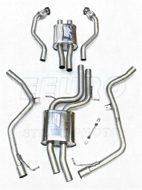 Vw Exhaust System Kit (cat-back) (race) (non-resonated) (polished 95mm Tips)
