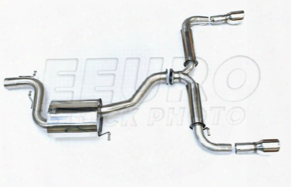 Vw Exhaust System Kit (cat-back) (race) (resonated) (3in) (cerakote Black 100mm Gt Tips)