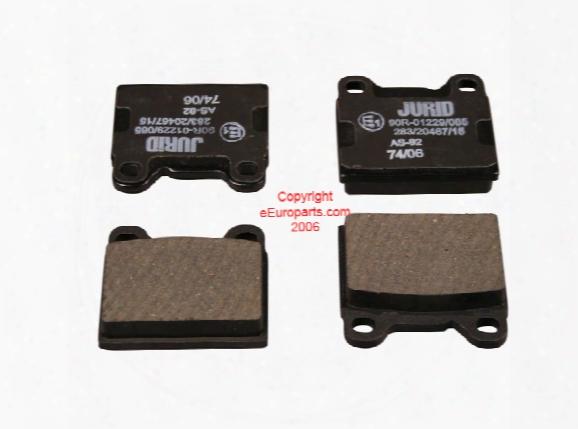 Disc Brake Pad Set - Rear - Jurid 571417j Volvo