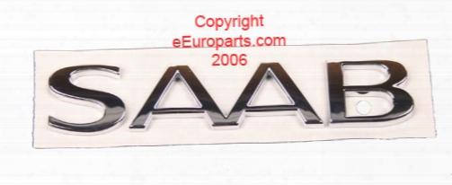Emblem - Trunk Saab - Genuine Saab 4910519