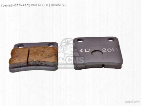(06455-gz0-006) Pad Set,fr