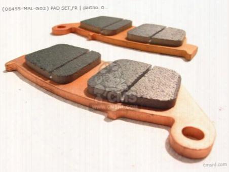 (06455-mal-g02) Pad Set,fr