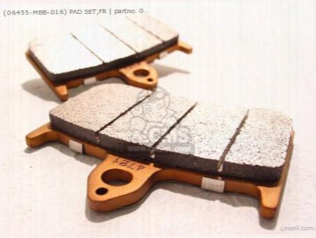 (06455-mbb-016) Pad Set,fr