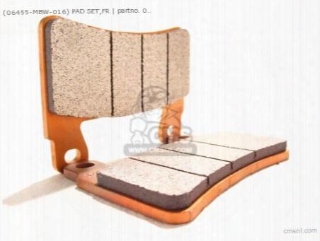 (06455-mbw-016) Pad Set,fr