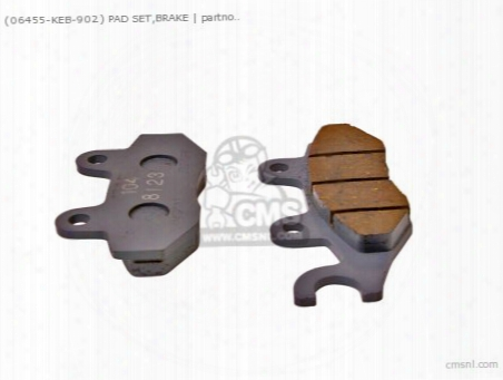 (06455keb901) Pad Set,brake