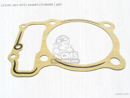 (12191-kcy-672) Gasket,cylinder
