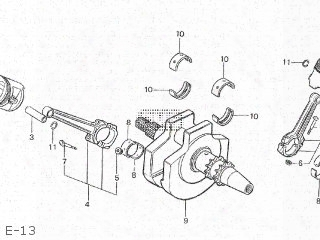 (13314ke8003) Brg B,crankshaft