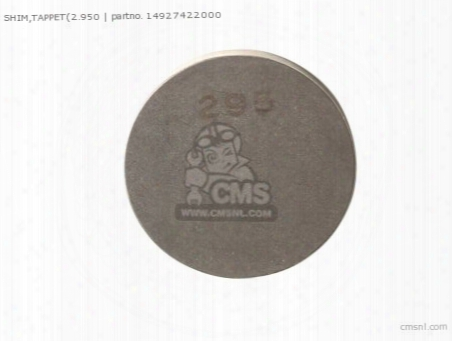 Shim,tappet(2.950