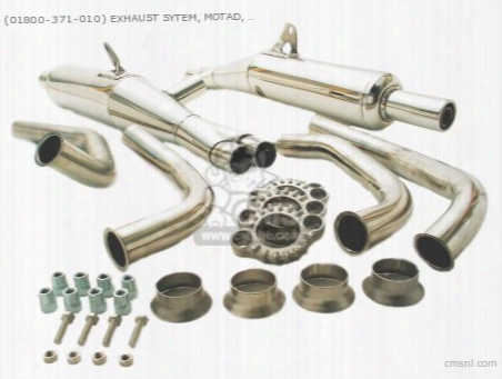 (01800-371-010) Exhaust Set Motad Gl1000 (stainless)