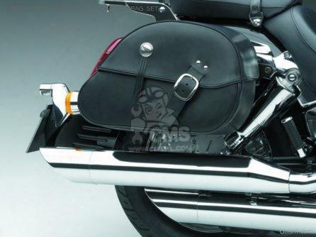 (08l56-meg-801b) Leather Saddlebag Set