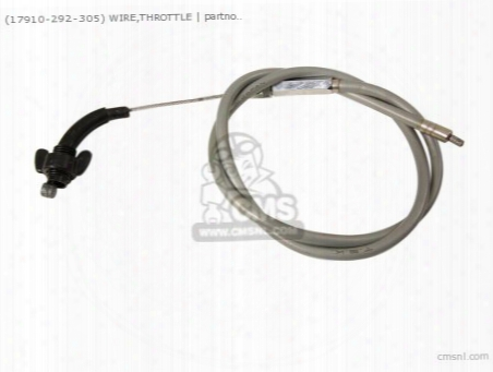 (17910-292-305) Wire,throttle