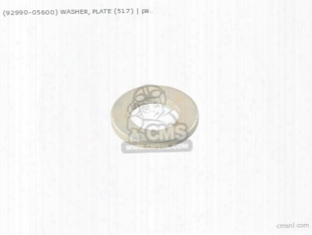 (92990-05600) Washer, Plate (517)