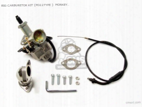 Big Carburetor Kit (pd22type ) Monkey R/rt (for R-stage Only)