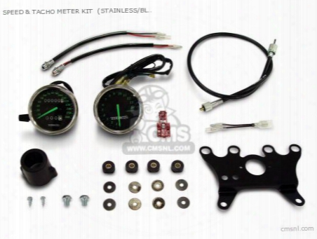 Speed & Tacho Meter Kit (stainless/black) 12v Monkey (electric