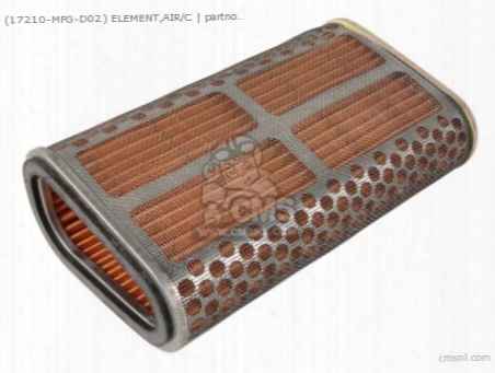 (17210-mfg-d02) Element,air/c
