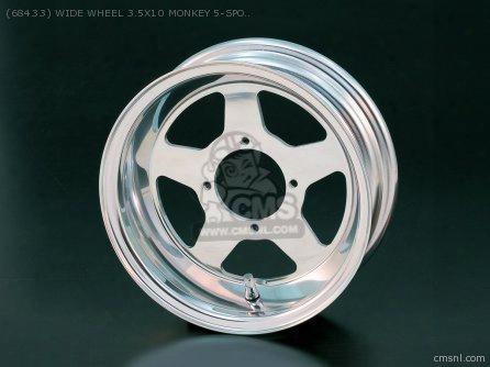 (68433) Wide Wheel 3.5x10 Monkey 5-spoke